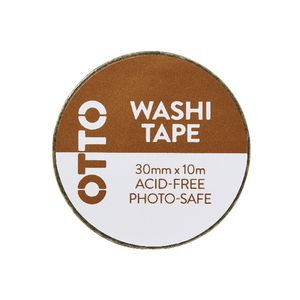 Otto Washi Tape 30mm x 10m Gold Pattern
