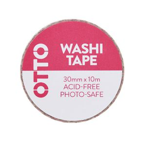 Otto Washi Tape 30mm x 10m Pink Pattern