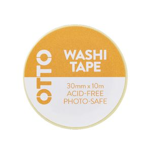 Otto Washi Tape 30mm x 10m Yellow Flower