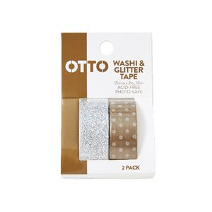 Otto Washi and Glitter Tape Metallics 2 Pack