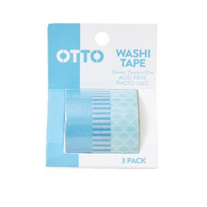 Otto Washi Tape Blue 3 Pack