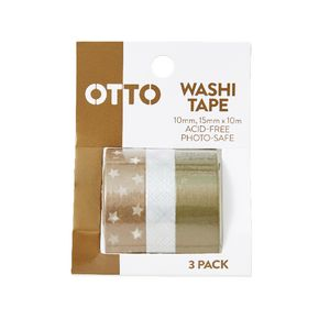 Otto Washi Tape Metallics 3 Pack