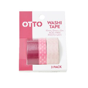 Otto Washi Tape Pink 3 Pack