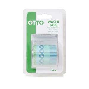 Otto Washi Tape Green 5 Pack