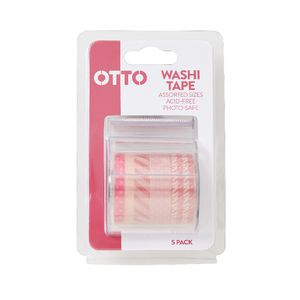 Otto Washi Tape Pink 5 Pack