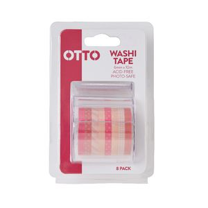 Otto Washi Tape Pink 8 Pack