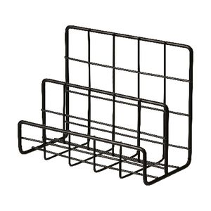 Otto Wire 3 Tier Letter Holder Black