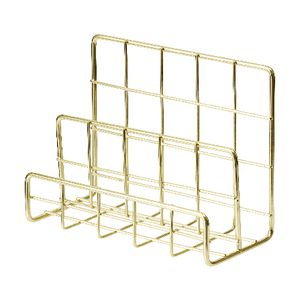 Otto Wire 3 Tier Letter Holder Gold