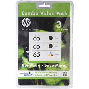 HP 65 Ink Cartridge Combo Pack
