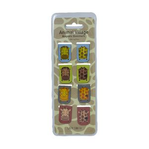 LAZY SMITH Animal Magnet Bookmark Giraffe 8 Pack