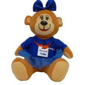 Officeworks Mini Pollie Bear Key Ring