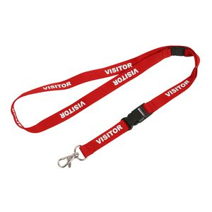Rexel Pre-Printed Visitor Lanyards 5 Pack