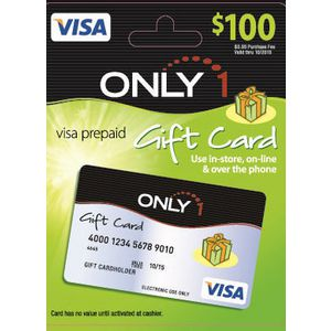 Visa Only 1 Gift Card $100