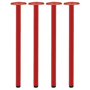Mix and Match Round Legs Red 4 Pack