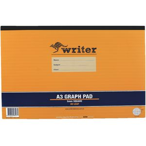 Writer A3 5mm Graph Pad 40 Page