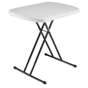lifetime personal folding table almond white