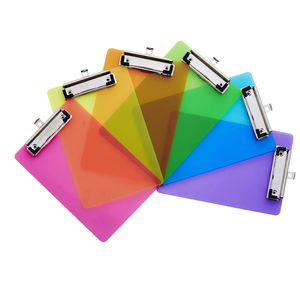 A5 Transparent Clipboard Assorted Neon Colours