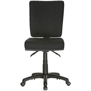 Flash Deluxe Heavy Duty Ergonomic Chair Black