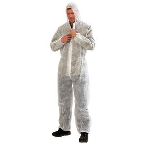 Provek Disposable Coveralls L White