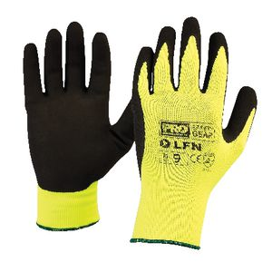 ProChoice ProSense Hi Vis Latex Foam Gloves Size 9