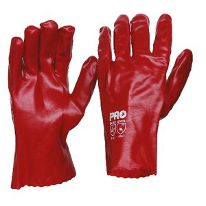 ProChoice Short PVC Single Dip Gloves Red