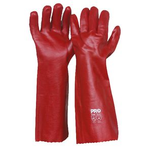 ProChoice Long PVC Single Dip Glove Red