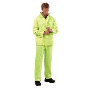ProChoice Hi Vis Rain Suit Jacket and Pants Combo Yellow M