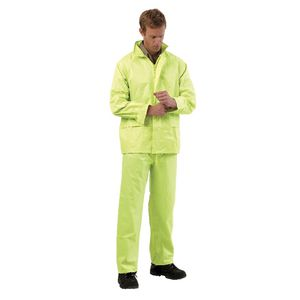 ProChoice Hi Vis Rain Suit Jacket and Pants Combo Yellow XL