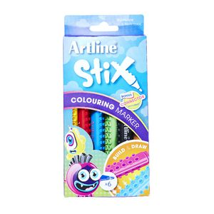 Artline Stix Colour Markers 6 Pack