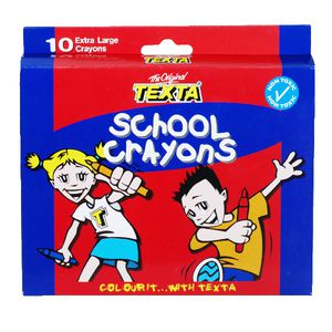 Texta Extra Large Crayons 10 Pack