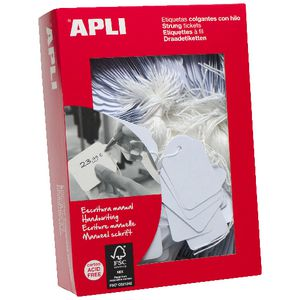 Apli Strung Tickets 22 x 35mm 500 Pack