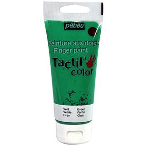 Pebeo Tactilcolor Finger Paint 80mL Green