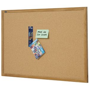 Quartet Oak Frame Cork Board 900 x 600mm