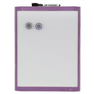 Quartet Basics 280 x 360mm Magnetic Whiteboard Purple