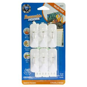 Permastick Cosmo Wire Hooks Small 6 Pack