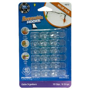 Permastik Wire Holders Clear 18 Pack