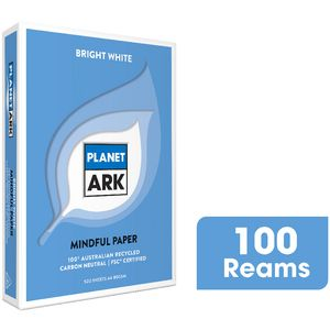 Planet Ark A4 100% Recycled Copy Paper 100 Ream Pallet