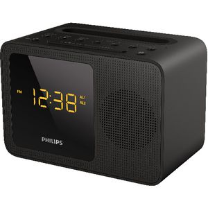 Philips Clock Radio with USB and Bluetooth Black