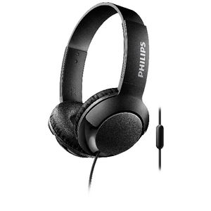 Philips Bass+ On Ear Headphones with Mic Black