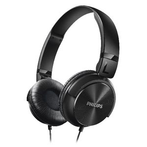 Philips On Ear Foldable Headphones Black