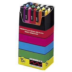 Uni POSCA PC-3M Poster Markers Assorted 15 Pack