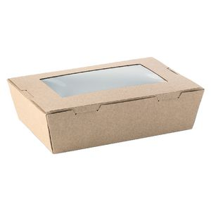 Paper-Pak Small Window Lunchbox Brown