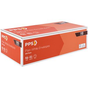 PPS Plainface 11B Envelopes White 500 Pack
