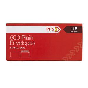 PPS Plainface 11B Envelopes White 500 Pack