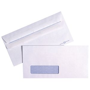 PPS Window Faced DL Envelopes White 100 Pack
