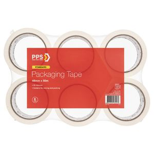 PPS Store 48mm x 50m Packaging Tape 6 Pack