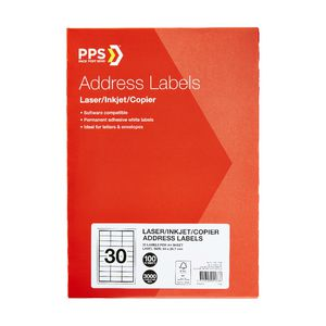 PPS Mailing Labels 30 UP 100 Pack