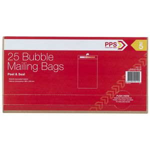 PPS Bubble Mailing Bags 265 x 380 mm 25 Pack