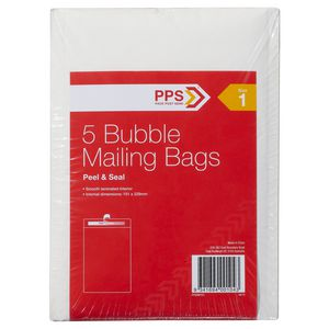 PPS Size 1 Bubble Mailing Bags 5 Pack