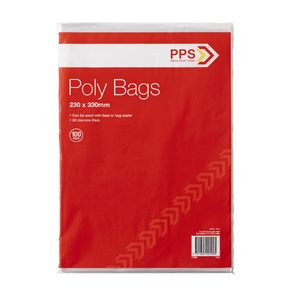 PPS Poly Bags 230 x 330mm 100 Pack